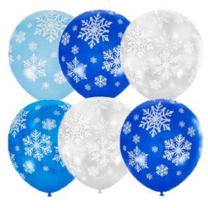 Шары «Снежинки» 35 см
