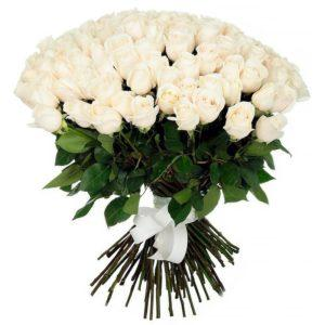 Белые Розы (Premium) 60 см