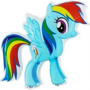 Фигура из фольги «Пони голубая» 98 см