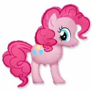 Фигура из фольги «Пони розовая» 98 см