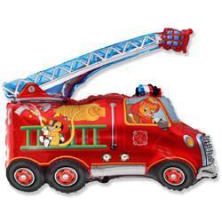 Фигура из фольги «Пожарная машина» 80 см
