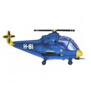Фигура из фольги «Вертолет синий» 96 см