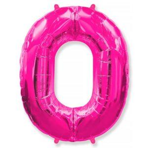 Фольгированный шар «Цифра 0» Фуше