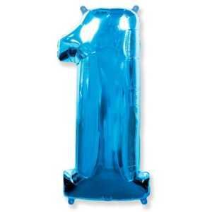 Фольгированный шар «Цифра 1» Синий