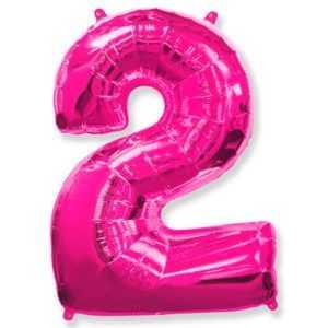 Фольгированный шар «Цифра 2» Фуше