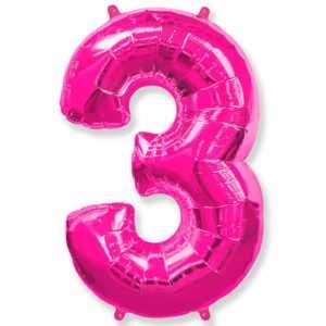 Фольгированный шар «Цифра 3» Фуше