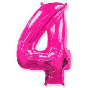 Фольгированный шар «Цифра 4» Фуше