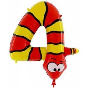 Фольгированный шар «Цифра 4» Змея