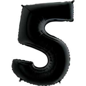 Фольгированный шар «Цифра 5» Черный