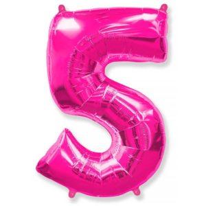 Фольгированный шар «Цифра 5» Фуше