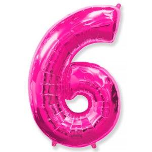 Фольгированный шар «Цифра 6» Фуше