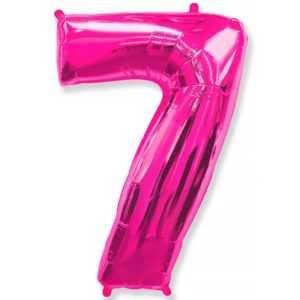 Фольгированный шар «Цифра 7» Фуше