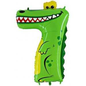 Фольгированный шар «Цифра 7» Крокодил