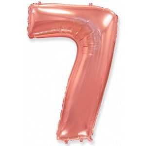 Фольгированный шар «Цифра 7» Розовое Золото