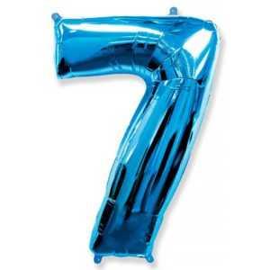 Фольгированный шар «Цифра 7» Синий