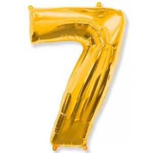 Фольгированный шар «Цифра 7» Золото