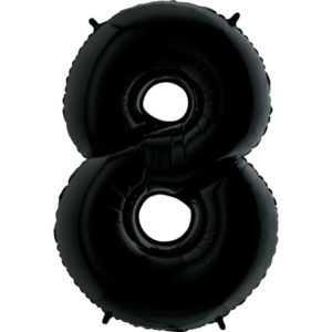 Фольгированный шар «Цифра 8» Черный