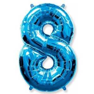 Фольгированный шар «Цифра 8» Синий