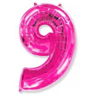 Фольгированный шар «Цифра 9» Фуше