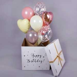 Коробка сюрприз с воздушными шарами №1