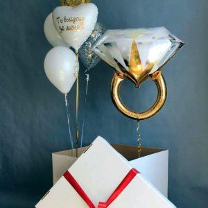 Коробка сюрприз с воздушными шарами №10