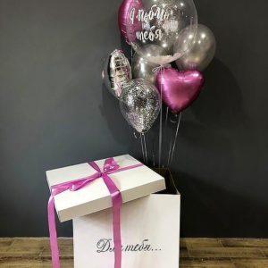 Коробка сюрприз с воздушными шарами №8