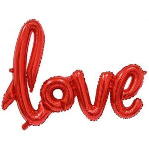 Растяжка надувная «Love» красная