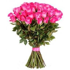Розовые Розы (Premium) 60 см