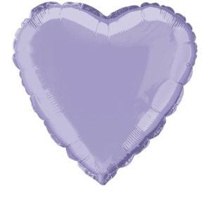 Шар сердце 45 см «Лаванда»