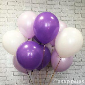 Шары «Лаванда-Фиолетовые-Белые» 35 см