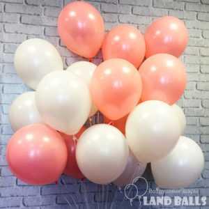 Шары «Нежно Розовые и Белые» 35 см