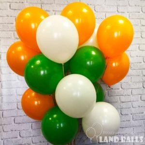 Шары «Оранжевые-Белые-Зеленые» 35 см