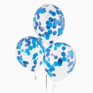 Шары с конфетти «Голубые и синие» 35 см