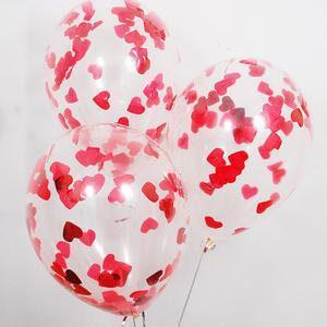 Шары с конфетти «Сердечки» 35 см