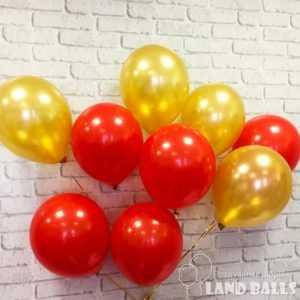 Шары «Золото - Красные» 35 см
