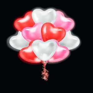 Светящиеся сердца «МИКС» 35 см